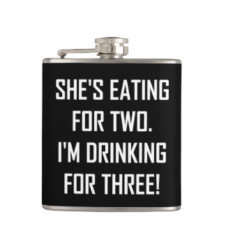 Eating For Two Drinking For Three Hip Flask