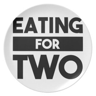 Eating for Two Plate