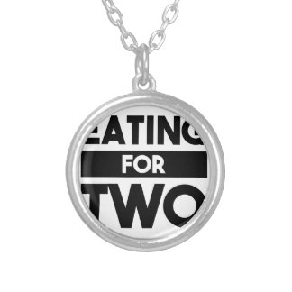 Eating for Two Silver Plated Necklace
