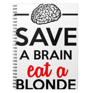 Eating monkey & bananas - Save a monkey Spiral Note Book