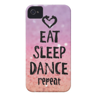 EatSleepDanceglitter.jpg Case-Mate iPhone 4 Case