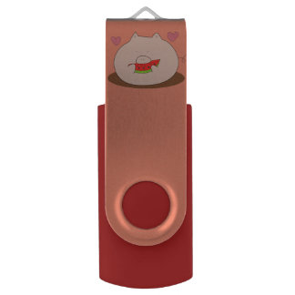 Eatting for Energy Swivel USB 2.0 Flash Drive