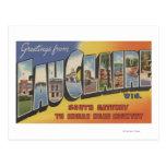 Eau Claire, Wisconsin - Large Letter Scenes Postcard