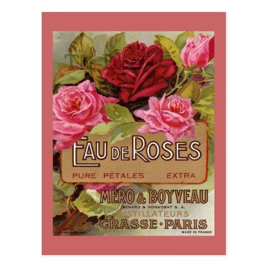Eau De Roses French Scent Postcard