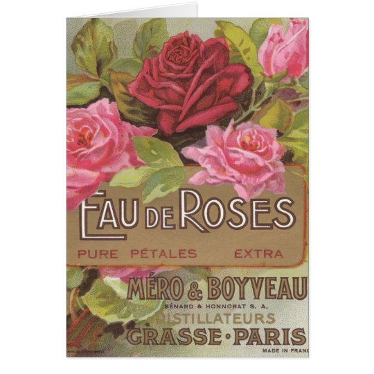 Eau de Roses Greeting Card
