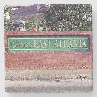EAV, East Atlanta, Older Welcome Sign, Atlanta, Stone Beverage Coaster