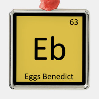 Eb - Eggs Benedict Chemistry Periodic Table Symbol Metal Ornament