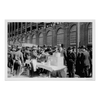 Ebbets Field Hot Dog Stand Baseball 1920 Poster