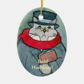 EbeMeowzer Scrooge from a Christmas Carol Christmas Ornaments