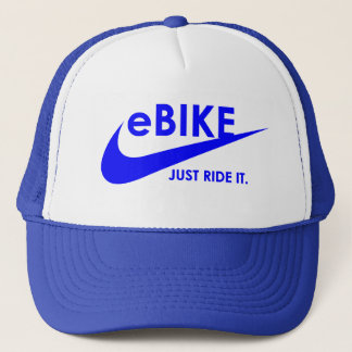 """eBike - Just ride it"" cycling hats"