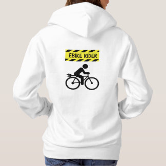 """Ebike rider"" cycling hoodies for her"