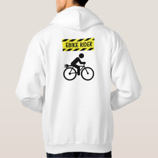"""""""Ebike rider"""" cycling hoodies for him"""