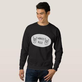 """Ebikes rule"" sweatshirts for men"