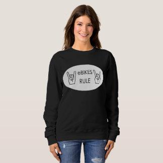 """Ebikes rule"" sweatshirts for women"