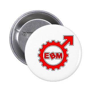 EBM Logo_11 Pinback Buttons