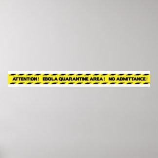 Ebola Quarantine Tape - English - Yellow Poster