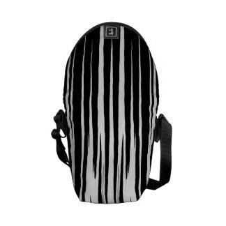EBONY AND IVORY zebra stripes abstract art design Messenger Bag