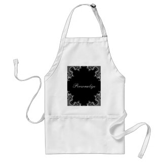 Ebony Damask Edge Apron