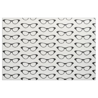 Ebony Girly Geek Glasses Fabric