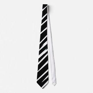 EBONY & IVORY (black & white zebra stripe design) Tie