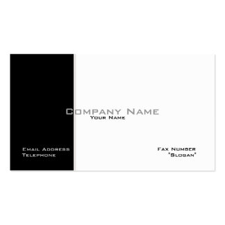 Ebony & Ivory Business Card Official