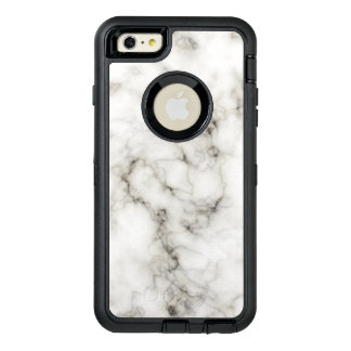 Ebony Ivory Marble Black White Marble Stone OtterBox Defender iPhone Case