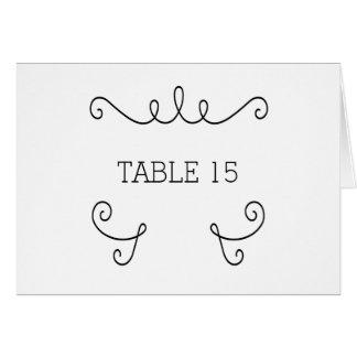 Ebony Whimsical Flourish Table Number Card