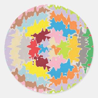 EBR Rainbow Colors:  Energy Balance Classic Round Sticker