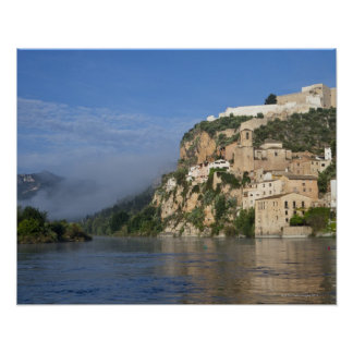Ebro River (Ria Ebre); Templar castle;  early Poster