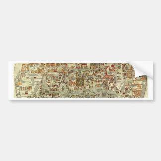 Ebstorfer Old World Map Bumper Sticker