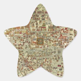 Ebstorfer Old World Map Star Sticker