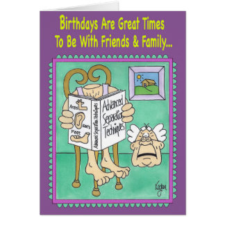 ECCENTRIC HERMIT Birthday Card