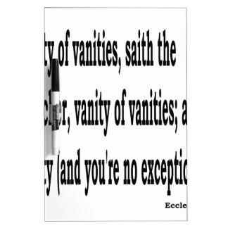Eccles. 1:2, w2 dry erase whiteboards