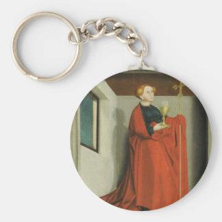 Ecclesia by Konrad Witz Basic Round Button Keychain