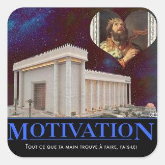 Ecclesiaste 9:10 square sticker