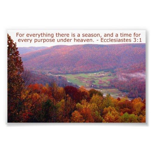 Ecclesiastes 3:1 with Autumn Mountain Scene Photo