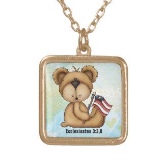 Ecclesiastes 3:3,8 - Gold finish necklace