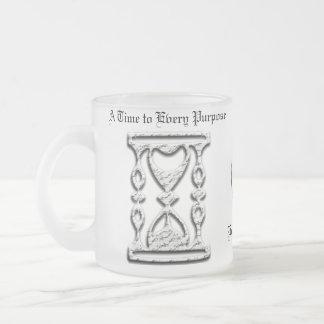Ecclesiastes 3 Inspirational Mugs with Hourglass