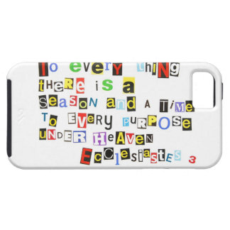 Ecclesiastes 3 Ransom Note Style Case For The iPhone 5
