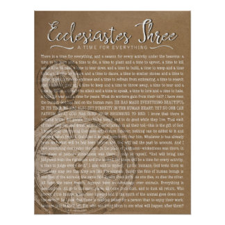 Ecclesiastes Three, Vintage Clock Poster