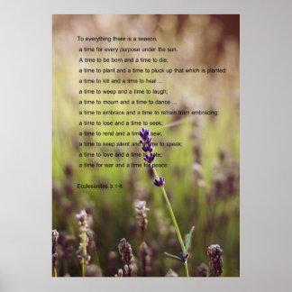 Ecclesiastes Verse Poster