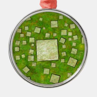Eccletinos V1 - mosaic map Metal Ornament