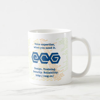 "ECG ""I heart SIP"" frosted mug"