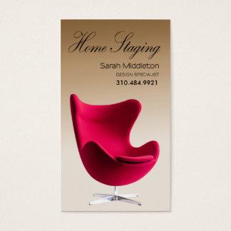 Échafaudage à la maison, design d'intérieur, agent cartes de visite