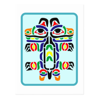 Échantillon Indiens pattern Native American Carte Postale