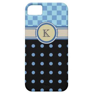 échecs et monogramme de motif de à petits pois coque iPhone 5 Case-Mate