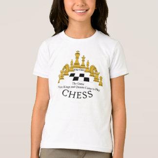 Échecs où les rois et le Queens viennent pour T-shirt