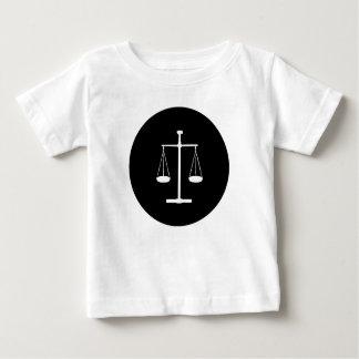 échelles de justice t-shirt pour bébé