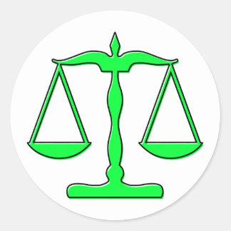 échelles d'oddRex de justice Sticker Rond