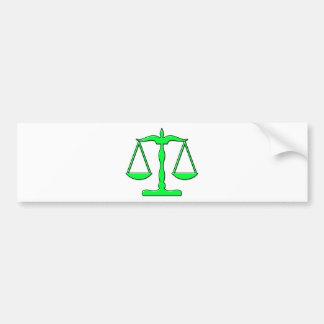 échelles d'oddRex de justice Autocollant De Voiture